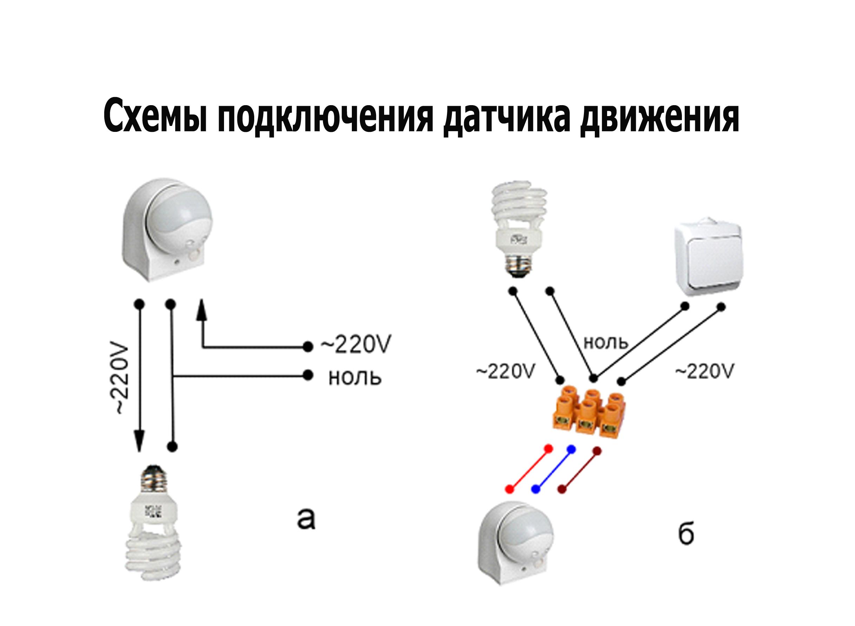 Датчик движения для включения света дома