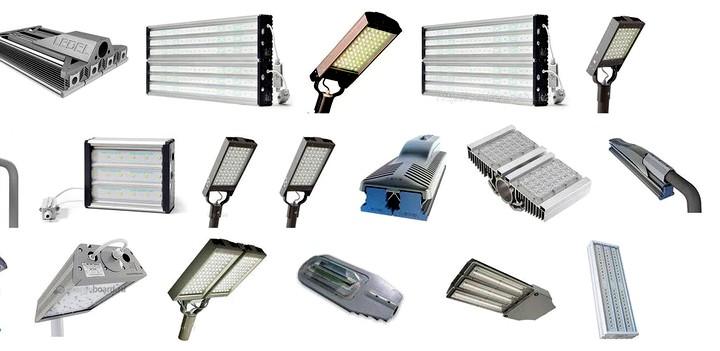 Различные разновидности уличных светильников
