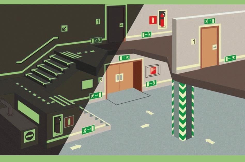 Размещение светильников аварийного типа