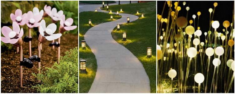 Эстетика освещения садовыми фонарями на солнечных батареях