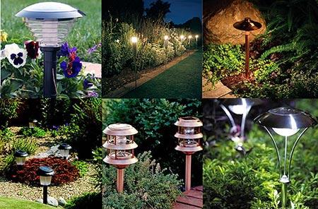 Садовые фонари на солнечных батареях для освещения дорожек