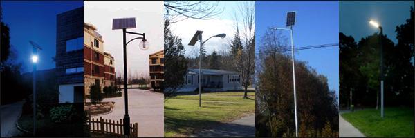 Фонари и прожекторы на солнечных панелях