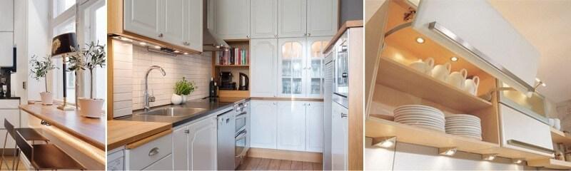 Мебельное освещение на кухне