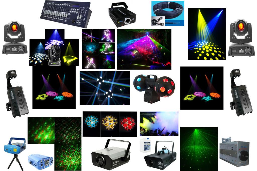 Виды светового обрудования