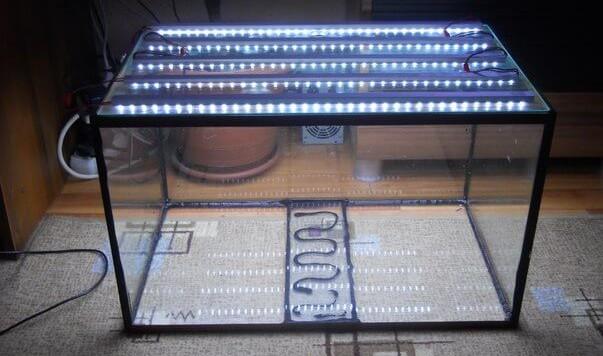 Светодиодная лента в аквариум своими руками 87