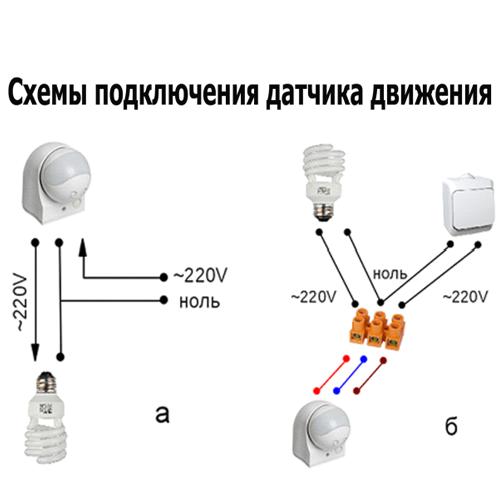 Различные схема подключения