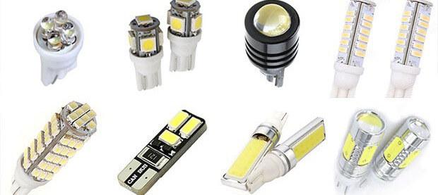 Виды и формы ламп с цоколем w5w