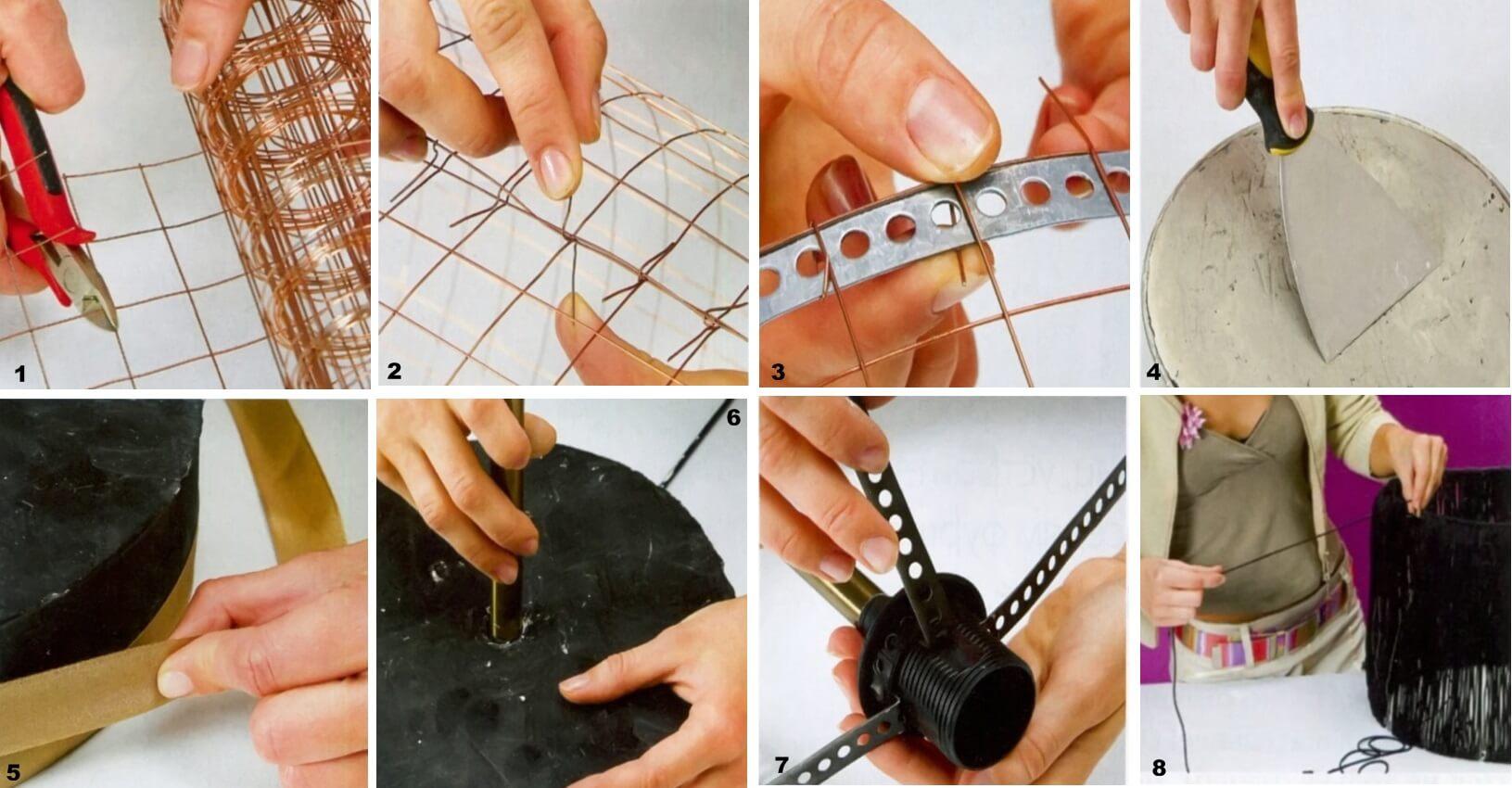 Как сделать основу светильнику