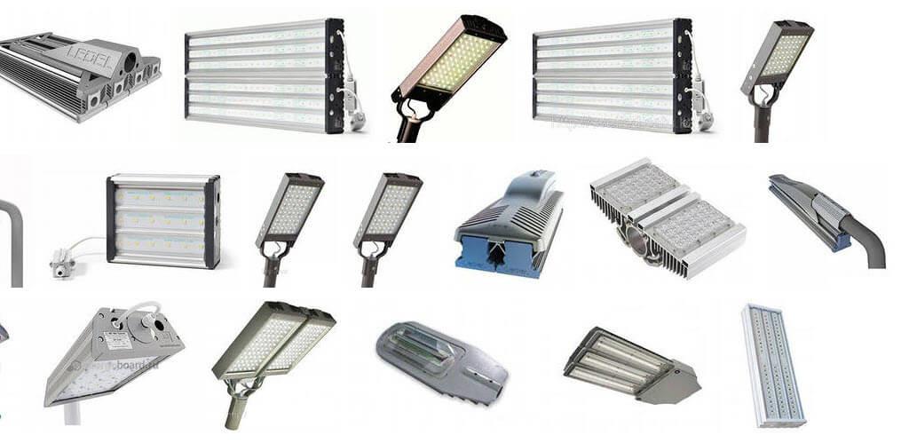 Купить уличные светодиодные светильники на столбы цена