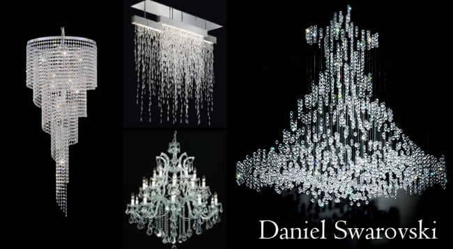 Хрустальные люстры марки Daniel Swarovski