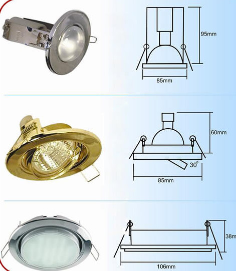 конструкции и поворотные светильники