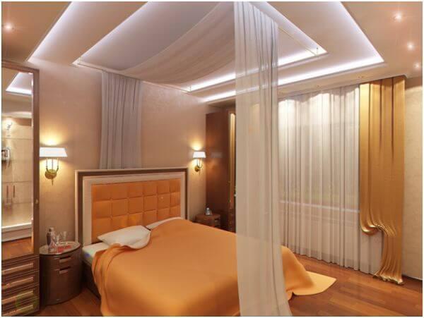 Многоуровневый потолок с диодной подсветкой