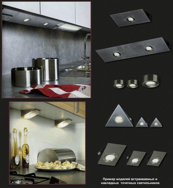 Накладные светодиодные светильники для кухни