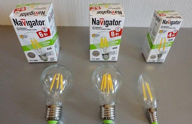Димируемые лампы navigatir