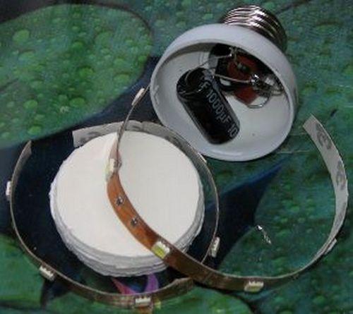 Материалы для создание лампы из светодиодов