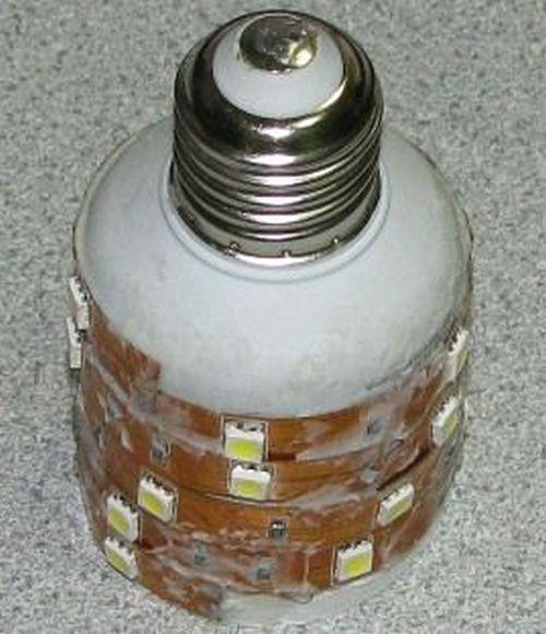 Самодельный вариант лампочки