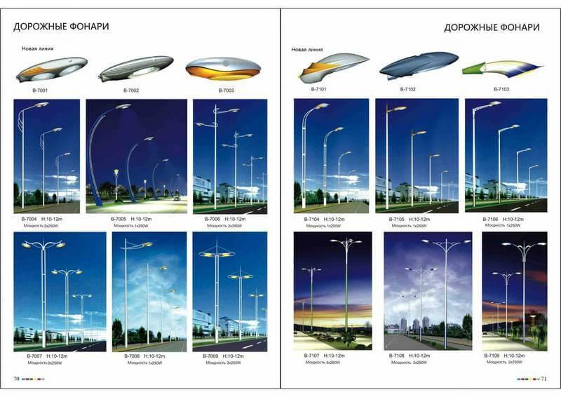 Светодиодные дорожные фонари