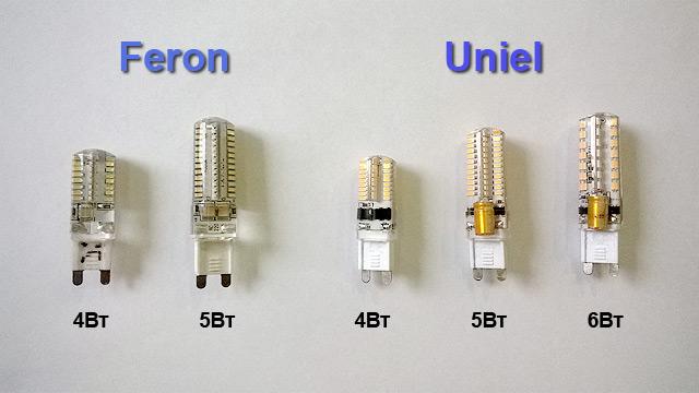 Продукция марки Feron и Uniel