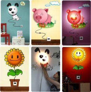 Веселые настенные бра для детской комнаты