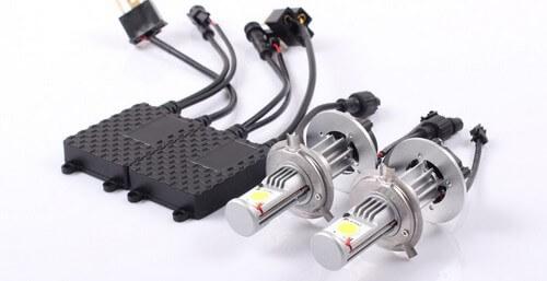 Модели автоламп с активным охлаждением радиатора