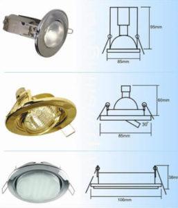 Различные виды встроенных светильников