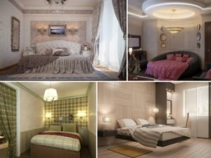 Светильник потолочный в спальне, различные варианты