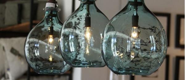 Самодельный светильник из бутылки